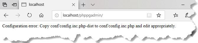 phpPgAdmin 設定エラー
