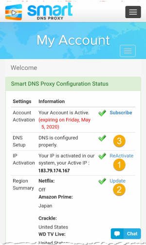 Smart DNS Proxy My Account